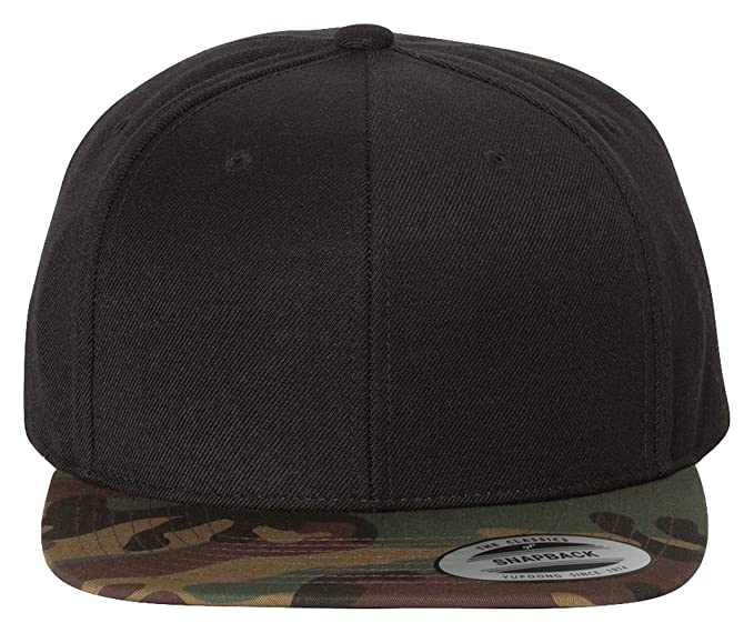 Yupoong The Classic Special Edition Camo Flexfit Snapback 6089M - Limited  Edition (One Size e882a254186f