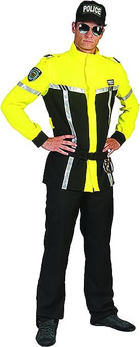 Zauberclown Policía Disfraz con leuchtender Chaqueta para ...