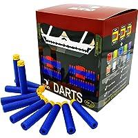 EKIND 200 Pcs 7.2cm TPR Waffles Soft Head Darts Refill Foam Bullet Compatible for Nerf Elite AccuStrike Series Blasters…