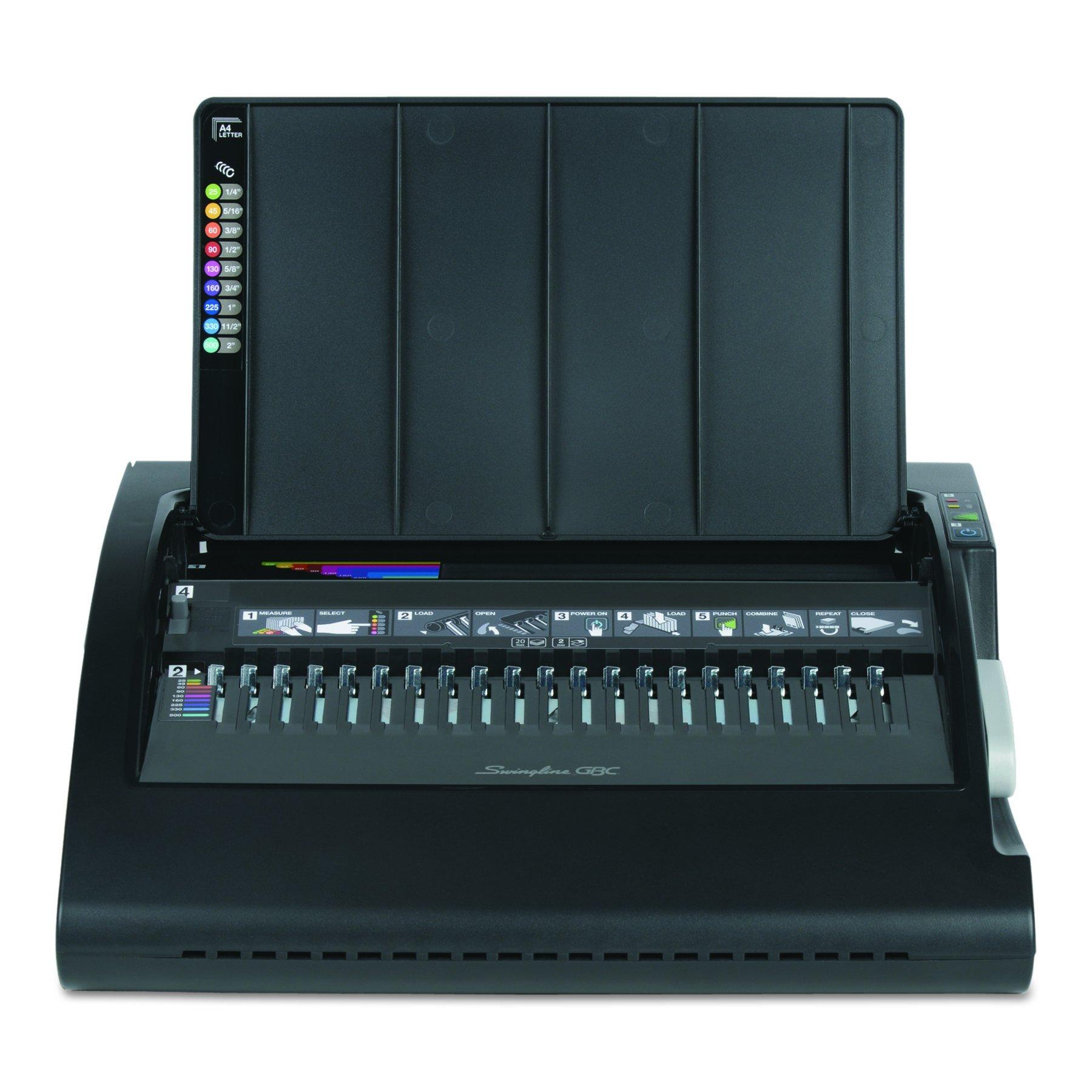 Swingline GBC 7708175 CombBind C210E Electric Binding Machine, Binds 330, Punches 20, Black