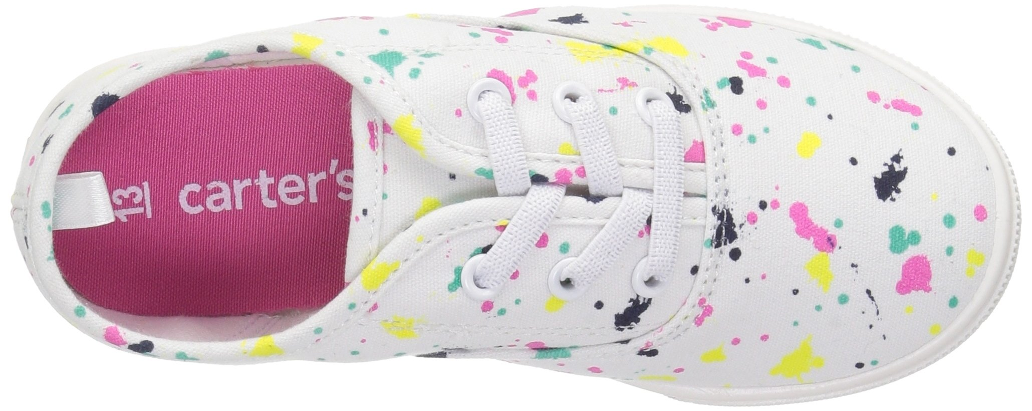 Carter's Piper Girl's Casual Sneaker, White/Print, 3 M US Little Kid by Carter's (Image #8)