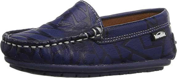 Venettini Kids Girl's 55-Gordy (Toddler/Little Kid/Big Kid) Navy Glass Leather Loafer 35 (US 3.5 Big Kid) M