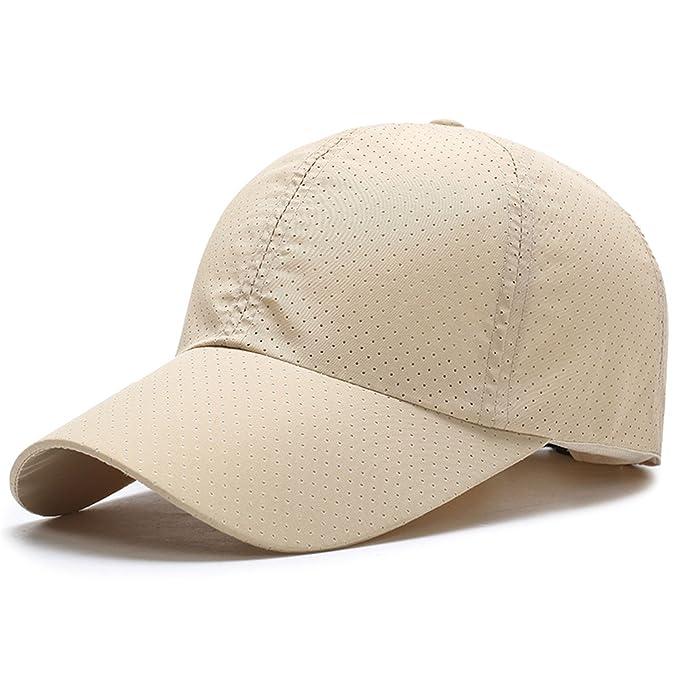 ff225491143 Prettyever Trendy Men Women Summer Snapback Quick Dry Mesh Baseball Cap Sun  Hat Breathable Hats Beige