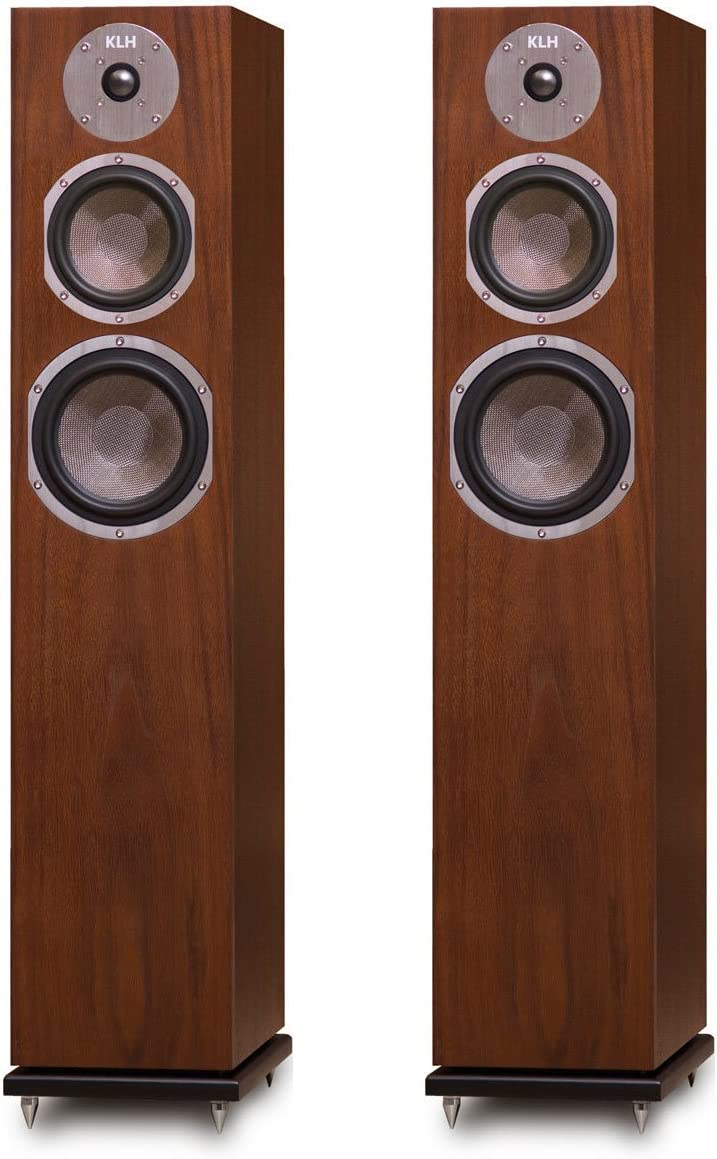 KLH Quincy Floorstanding Speakers – Pair Walnut