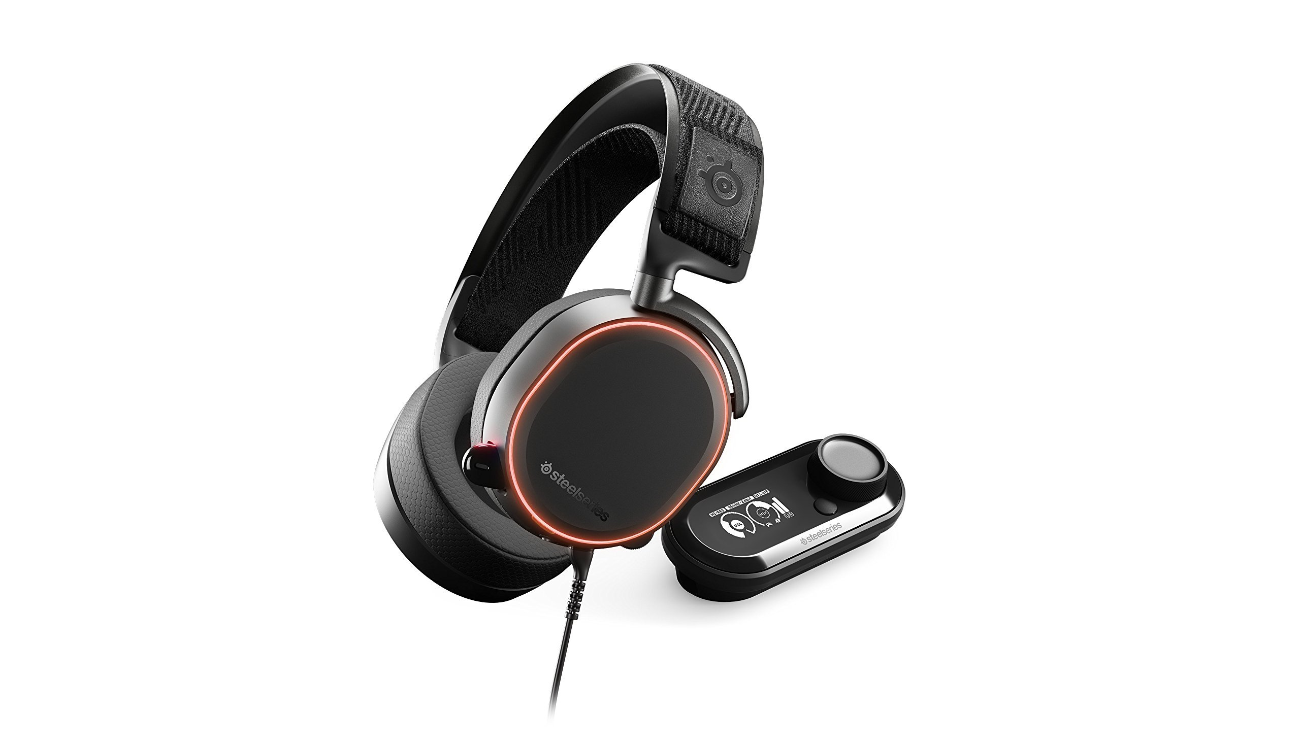 SteelSeries Arctis Pro + GameDAC Gaming Headset - Certified Hi-Res Audio System for PS4 and PC (Renewed) by SteelSeries