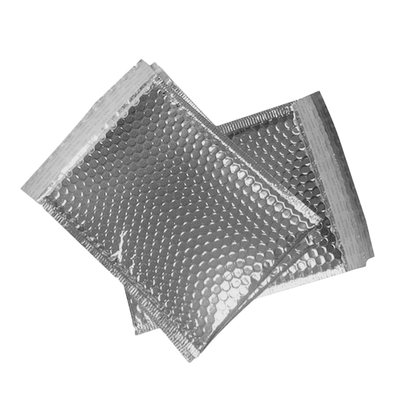 Sacchetti Messaggero[20PCS],Beetest® Sacchetti del Messaggero Auto-Seal in Alluminio Placcatura Pellicola Imbottita Bolla Mailer Buste Borse, 5,5 x 6,3 pollici TRTAZ11A