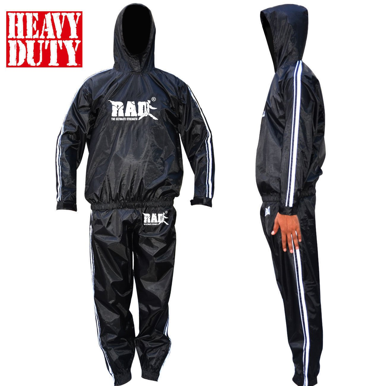 RAD Sweat Suit Sauna Exercise Tracksuit Fitness Weight Loss Slimming Boxing Gym with Hood