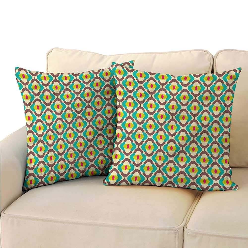 Amazon.com: Square Throw Pillow Covers Vintage Groovy ...