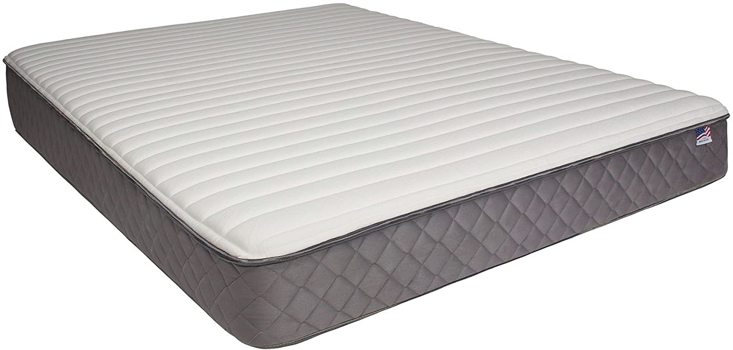 Furniture of America DM215T-M 7 Borage Tight Top Twin Mattress - White-Gray