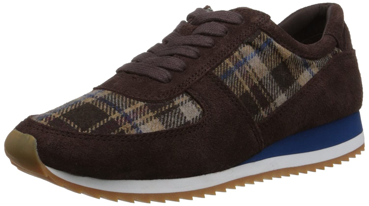Dark marron Suede Plaid Flannel Bella Vita Wohommes Emilie Fashion baskets 8 2A(N) US