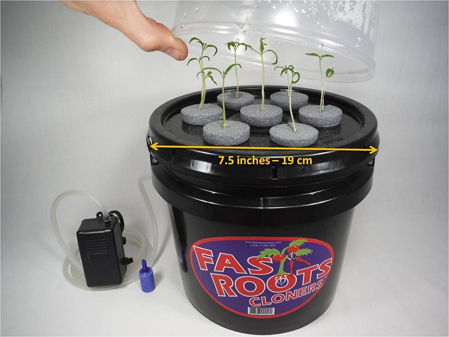 Indoor 7 Site Plant Cloning Machine Easy Root Growing Hydroponics Aeroponics BNJ DESIGN mini plant cloner