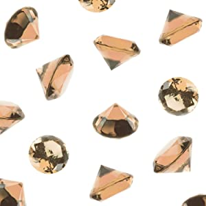 Super Z Outlet Acrylic Color Faux Round Diamond Crystals Treasure Gems for Table Scatters, Vase Fillers, Event, Wedding, Birthday Decoration Favor, Arts & Crafts (1 Pound, 240 Pieces) (Brown)