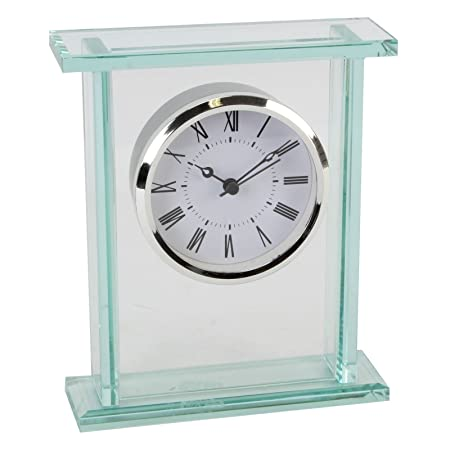 Mantel clock glass bezel