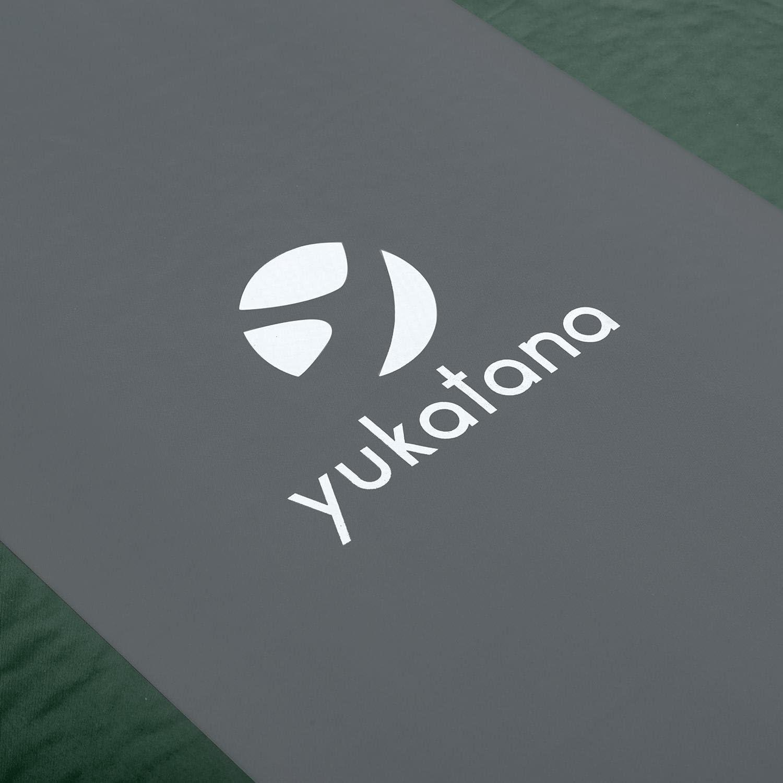 63 x 3 x 198 cm, 7 CM, srotolabile Verde//Grigio Yukatana Goodsleep 7 Materassino Ad Aria in Schiuma autogonfiante Campeggio