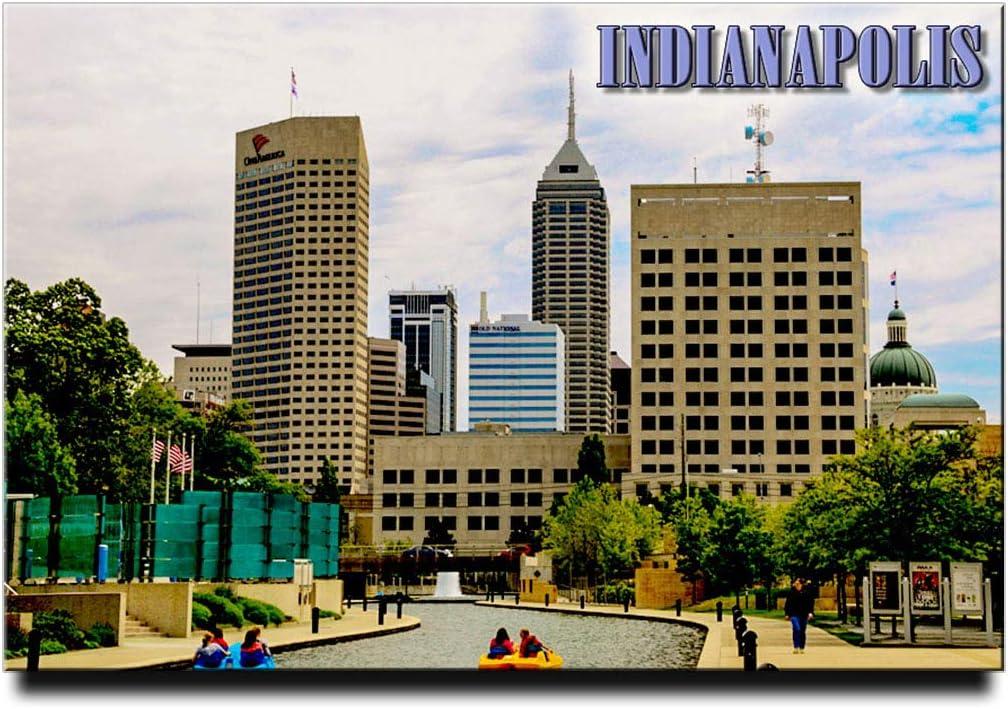"Indianapolis Canal Walk Fridge Magnet 3""x2"" Indiana Travel Souvenir"