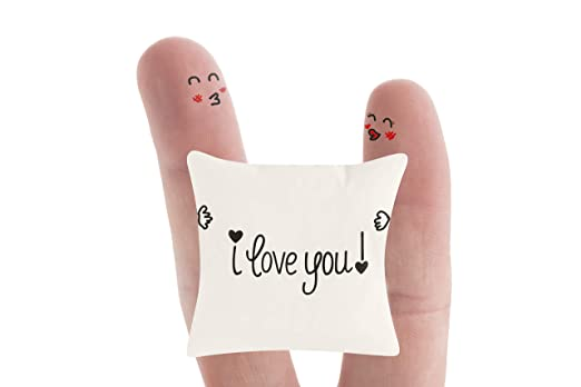 Happy Ideas Funda cojín I Love You. 50x50 cms. Blanco y ...