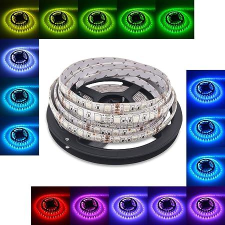 5M 16.4ft 3528 300 LED SMD Flexible Strip Light IP65 Waterproof Tape Adapter