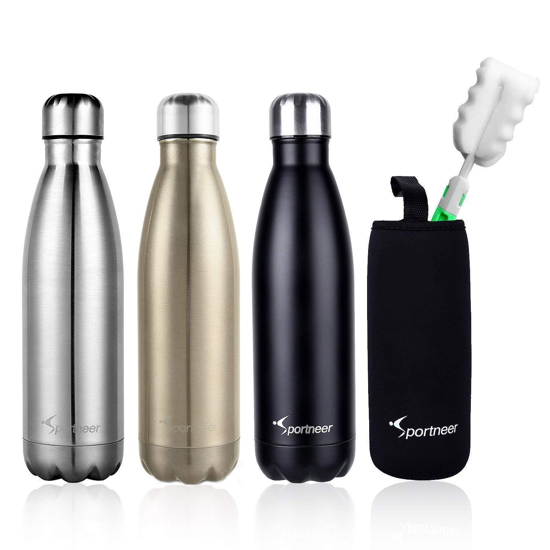 Wasserflasche, Sportneer 17 Unzen/ 500 ml Doppelte Wand Vakuum ...