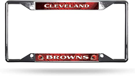 Rico Industries Browns All Over Chrome Frame