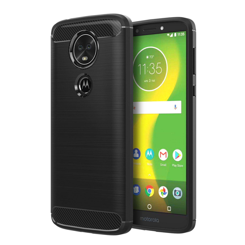 Moto G6 Play Case, Moto E5 Case, Moko Soft Lightweight TPU Bumper Cover Carbon Fiber Design Anti-Scratch Slim Back Panel Shock Aborsption Cellphone Shell for Moto E5, Moto G6 Play, Indigo