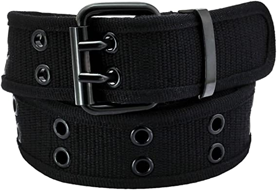 2 Pack Kids Canvas Two-Hole Belt