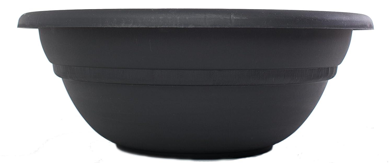 Bloem MB1820-00 Milano Planter Bowl, 20-Inch, Black
