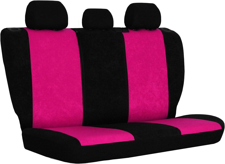 1+1 Autositze vorne und 1 Sitzbank hinten teilbar 2 Rei/ßverschl/üsse f/ür Vordersitze und R/ückbank 3er Set Saferide Autositzbez/üge PKW universal Auto Sitzbez/üge Velours Blau mit Airbag
