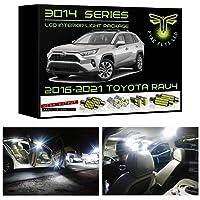 Fyre Flys 8 Piece White LED Interior Lights for 2016-2020 Toyota RAV4 Super Bright 6000K 3014 Series SMD Package Kit and…