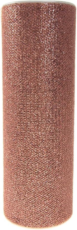 10-Yard Glitter Tulle Spool Fabric Net 6-inch Blush