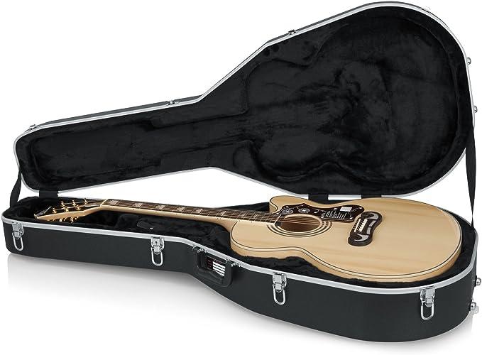 GATOR GC-JUMBO - Estuche para guitarra acústica de ABS (interior moldeado): Amazon.es: Instrumentos musicales