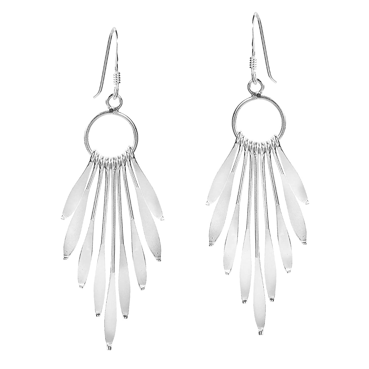 b7f63df83bb99 Sparkling Sticks Circle Chandelier .925 Sterling Silver Dangle ...