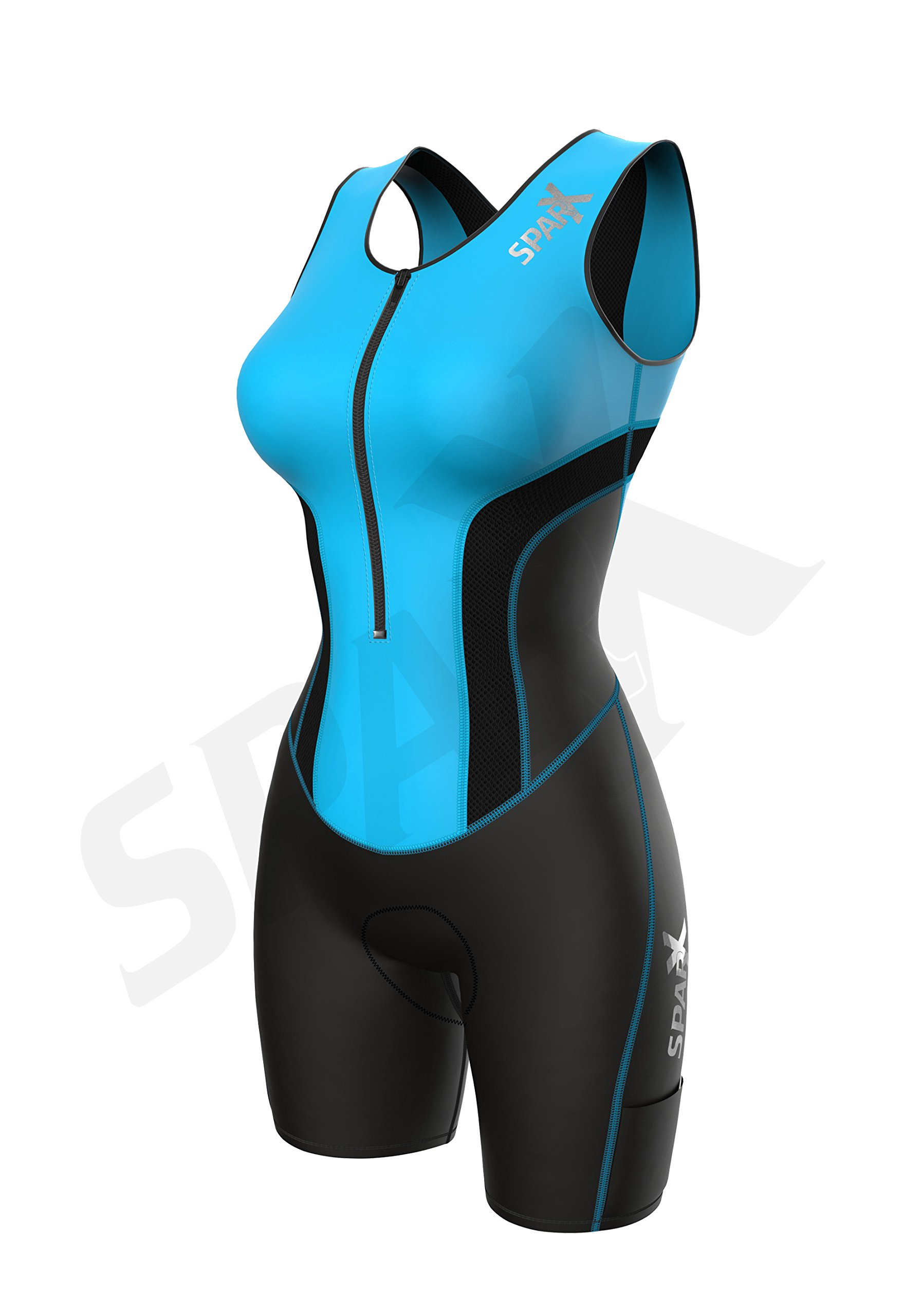 Sparx Women Triathlon Suit Tri Short Racing Cycling Swim Run (Small, Aqua) by Sparx Sports (Image #3)