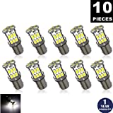 LUYED 10 x Super Bright 3014 30-EX Chipsets BA9 BA9S 53 57 1895 64111 LED Bulbs Used For Side Door Courtesy Lights Map Lights,Xenon White