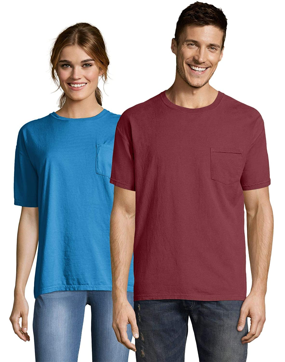 Hanes ComfortWash Garment Dyed Short Sleeve T-Shirt with a Pocket GDH150