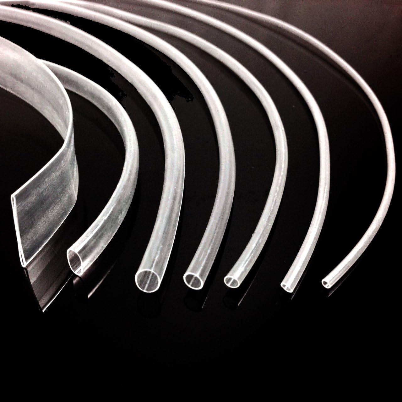 6.4 mm Negro CALOR SHRINK heatshrink Tubing-Por Metro