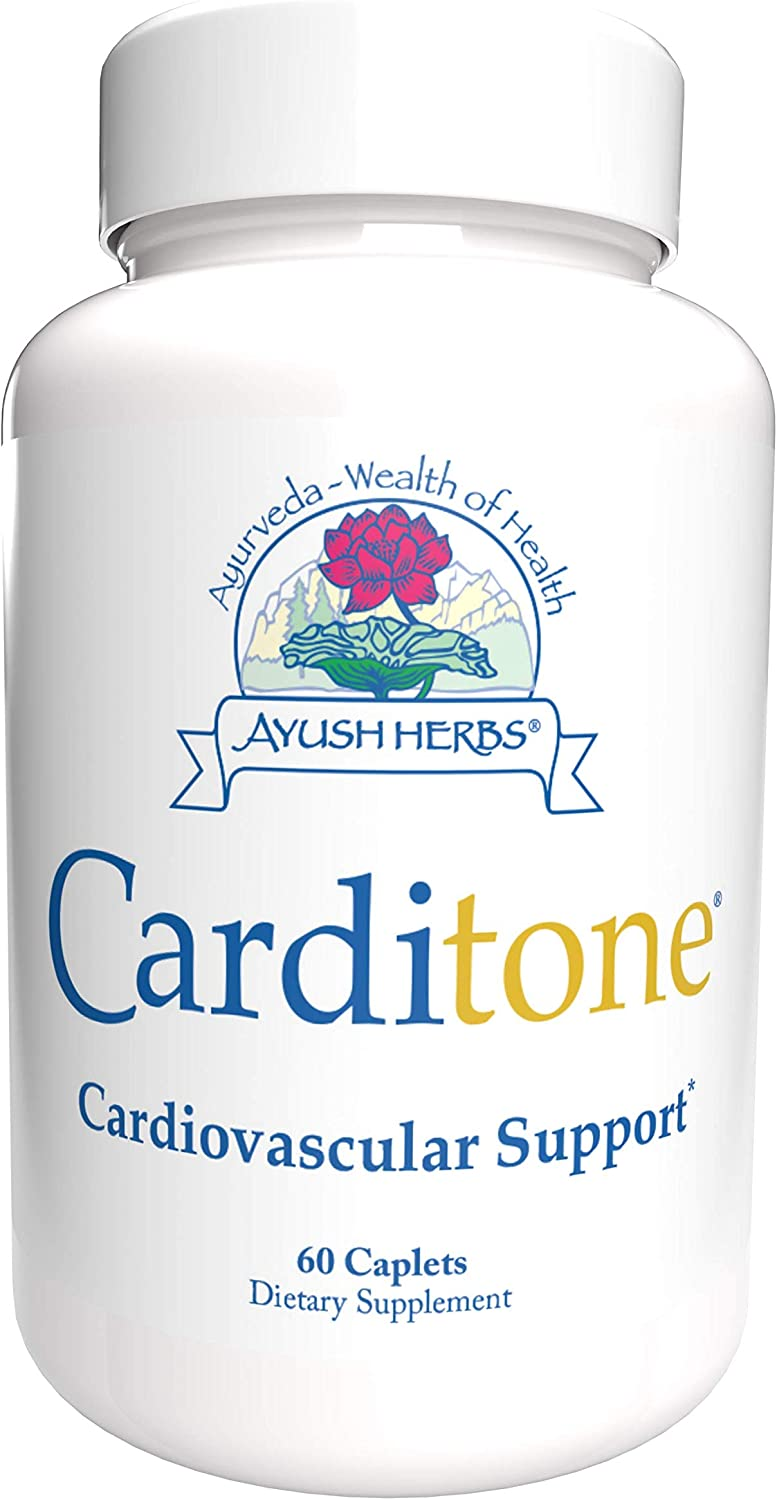 Ayush Herbs Carditone, Unbeatable Blood Pressure and Cardiovascular Support Herbal Supplement, 60 Capsules
