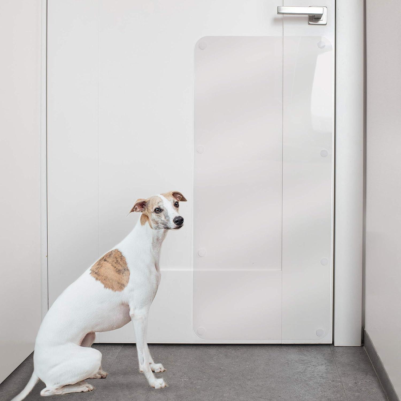PROTECTO Protector de arañazos para puerta - Perro y gato anti garras - Escudo resistente de 35x15