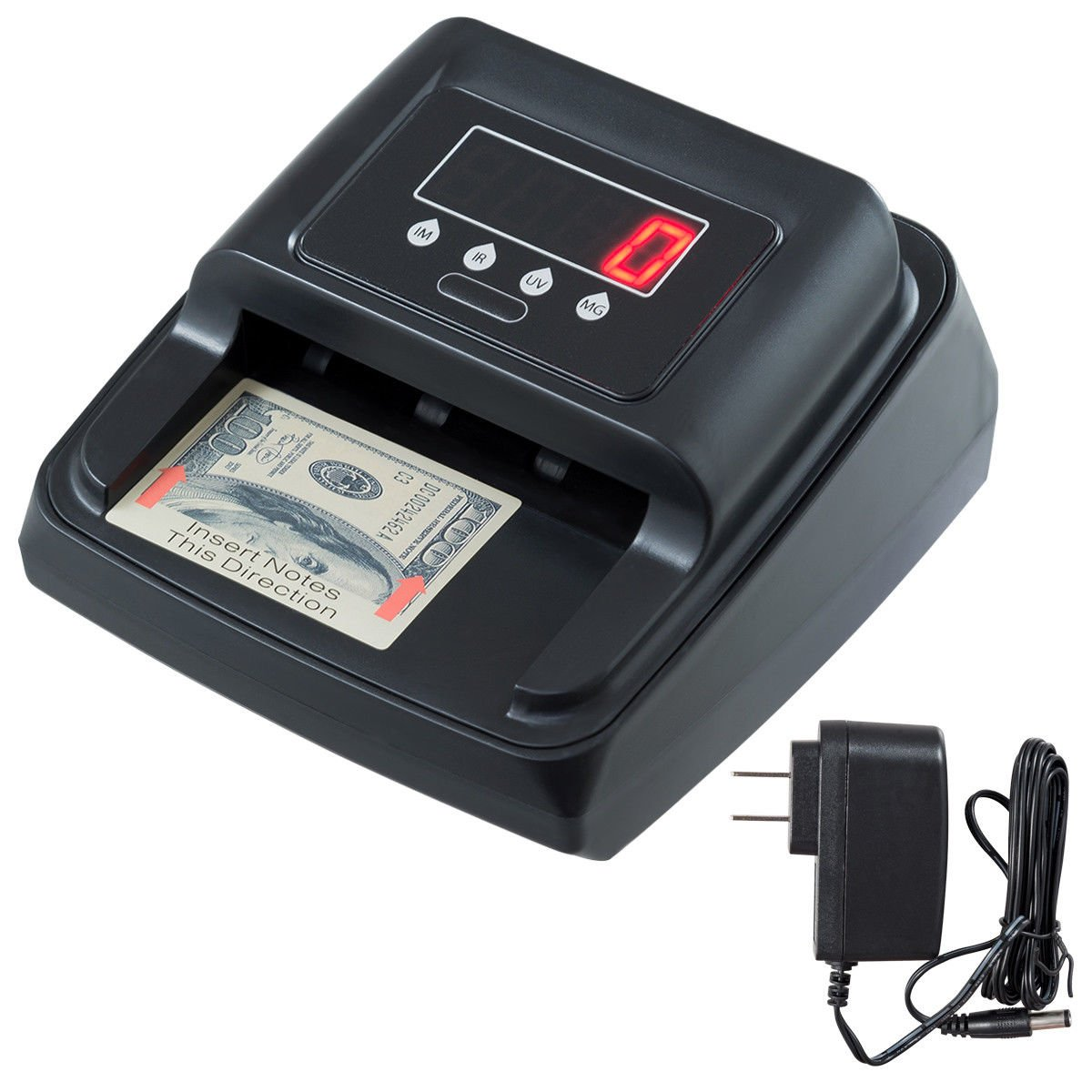 Tangkula Money Detector Currency Detector Automatic LED Screen with UV/MG/Multi Spectrum Counterfeit Bill Detector