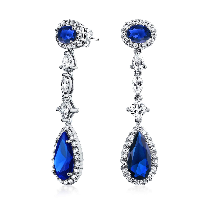 8731c7c0a Amazon.com: Deco Style Red Cubic Zirconia Teardrop Simulated Ruby CZ  Chandelier Earrings For Women Prom Wedding Silver Plate Brass: Dangle  Earrings: Jewelry