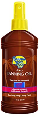 Banana Boat Deep Tanning Oil Spray with Carrot and Banana Extracts - 8 Ounce