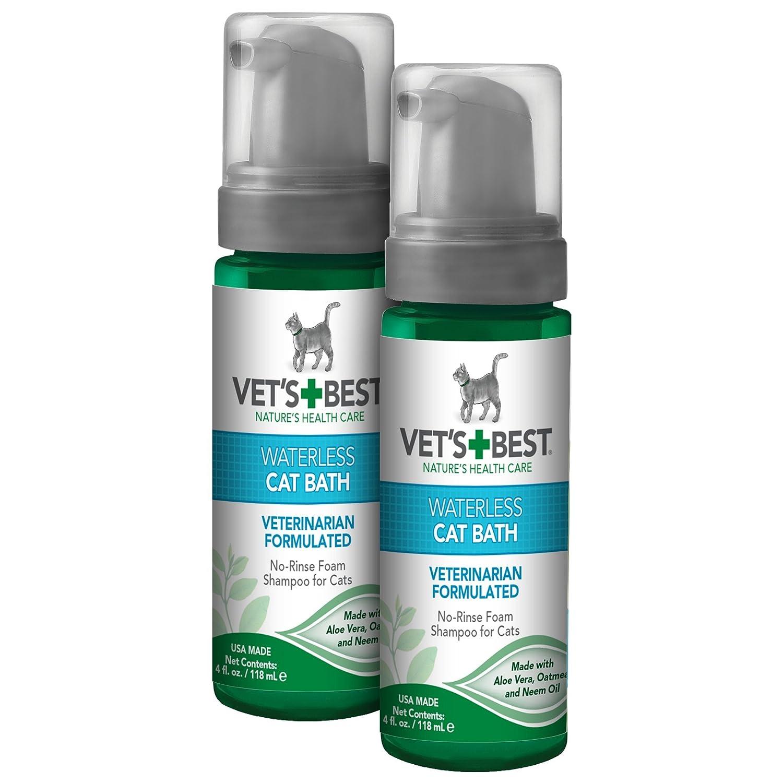 Vet's Best No-Rinse Clean Waterless Cat Shampoo  Natural Formula, 4 oz