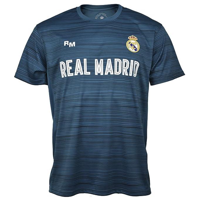 a1c66af50 Real Madrid Camiseta TRAINING-17 Nº 4 INF. Azul Petrol T-04  Amazon ...