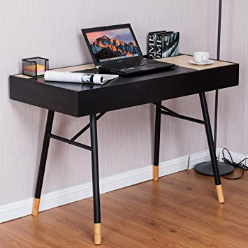 costway large computer desk office writing desk with drawer rh amazon co uk large writing desk canada large writing desk plans