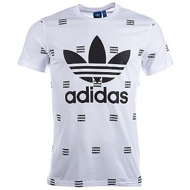 9628b990901 adidas Originals Mens Mens 3-Stripes AOP T-Shirt in White - XL  adidas  Originals  Amazon.co.uk  Clothing
