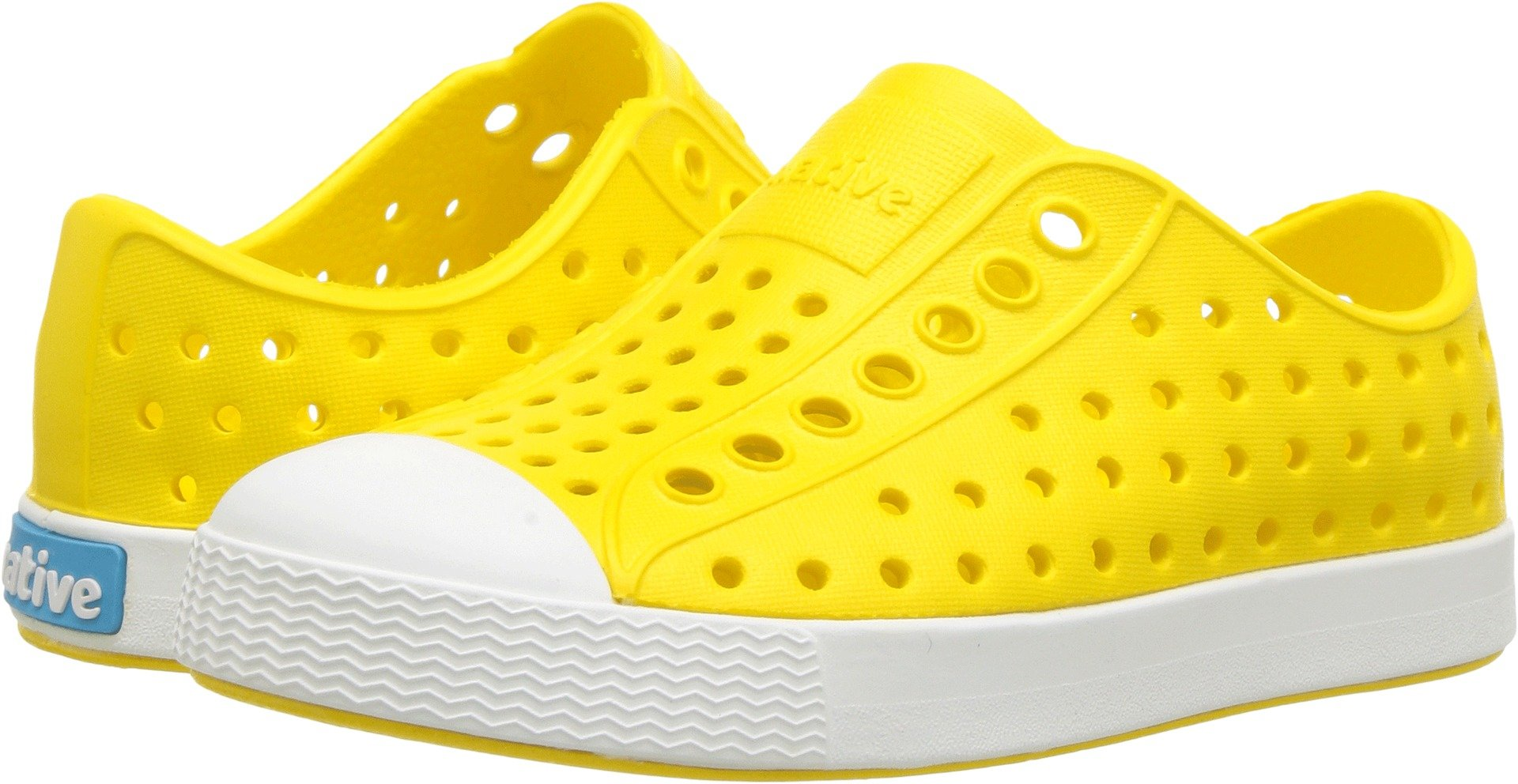 Native unisex-baby Jefferson Child Water Proof Shoes, Crayon Yellow/Shell White, 7 Medium US Toddler by Native Shoes