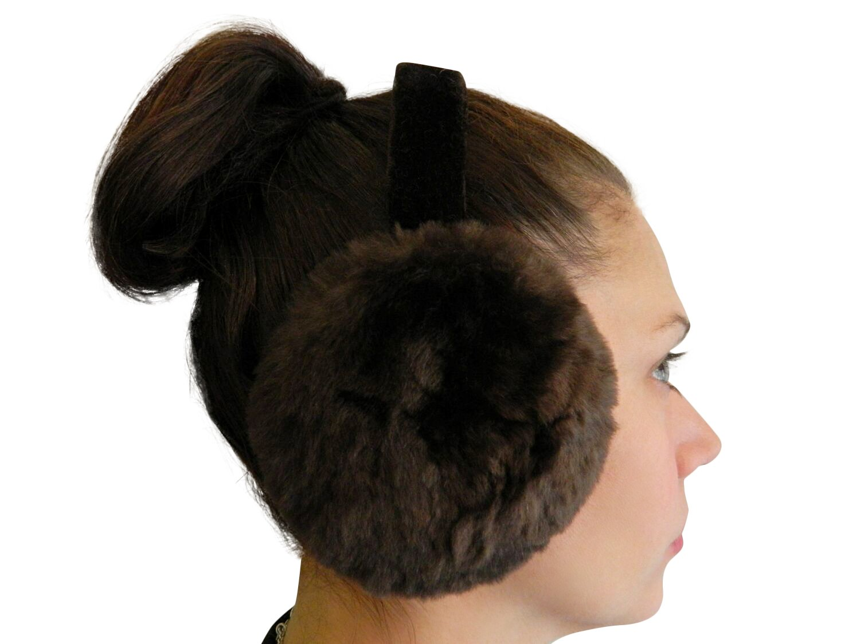 Brown Sheared Beaver Ear Muffs