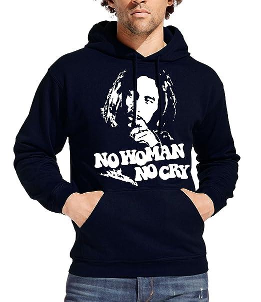 Bob Marley Sudadera con Capucha Jersey Sudadera con Capucha - No Woman No Cry - Muchos tamaños y Colores: Amazon.es: Ropa y accesorios