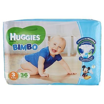 Huggies - Bimbo - Pañales - Talla 3 (4-9 kg) - 36