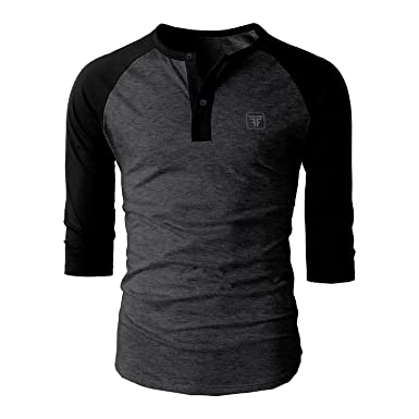 Fashion Freak Full Sleeve T Shirt For Men Stylish Raglan Henley ...