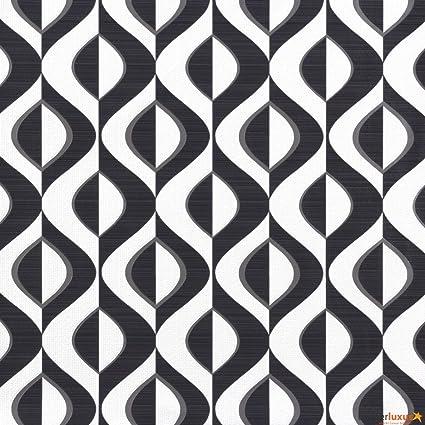 Rasch 773965 Wallpaper Bestsellers Retro Wallpaper Black